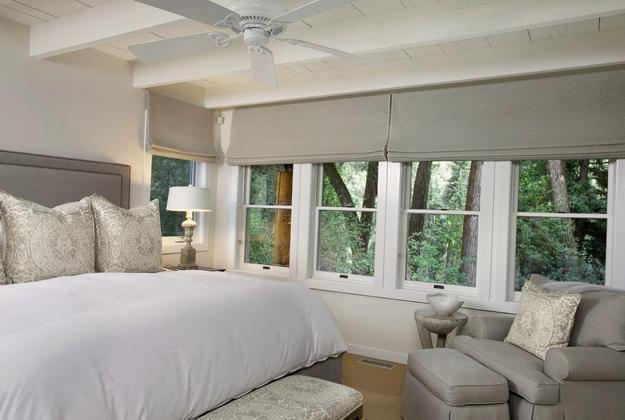 Bay Window Coverings And Seat Design In White Yellow Green Colors, Modern Bedroom  Ideas