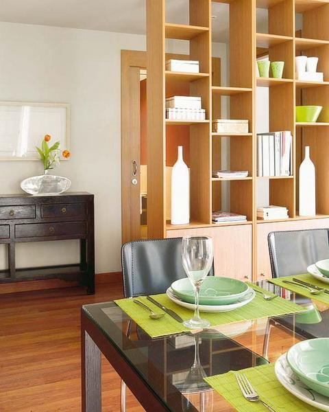 Tips For Decorating A Small Apartment: 25 Room Dividers With Shelves Improving Open Interior