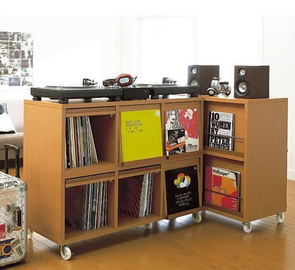 Low Storage Furniture As Room Dividers Wooden Cabinet On Wheels