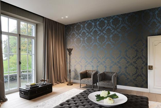 Modern Wallpaper With Jacquard Texture Bringing Vintage Chic