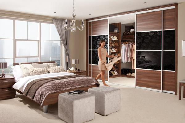 Sliding Doors For Space Saving Walk In Closet Design, Small Bedroom Ideas