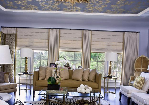 25 Roman Shades And Curtain Ideas To Harmonize Modern Living Rooms With Window Coverings