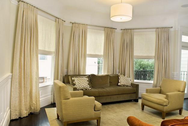 Roman Shades And Curtain Ideas Harmonize Modern Living Rooms Window Coverings
