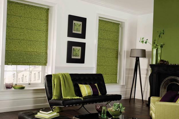 green roman shades patterned by ena russ last updated 16042014 25 roman shades and curtain ideas to harmonize modern living rooms