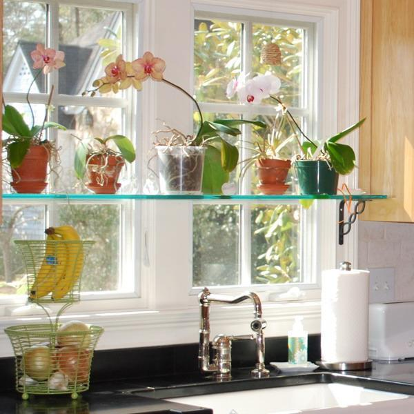 Glass Shelves And Window Decorating Ideas