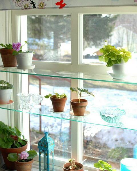 Kitchen Window Plant Shelf: Stationary Window Designs, 20 Window Decorating Ideas With