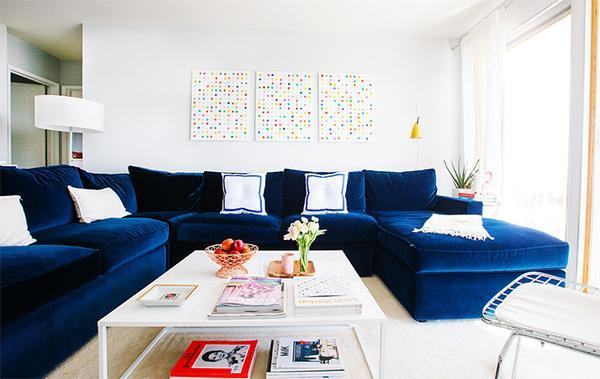Modern Interieur Living : Ideas for modern interior decorating with white and blue color