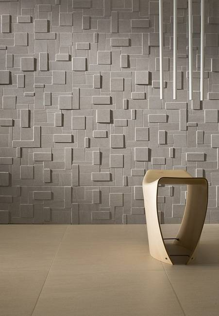 Accent Wall Design With Ceramic Tiles Modern Interior Ideas