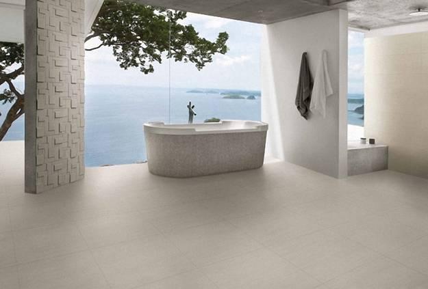 Contemporary Bathroom Design With Ceramic Tiles