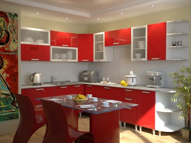 50 Plus 25 Contemporary Kitchen Design Ideas Red Kitchen Cabinets For Small Spaces