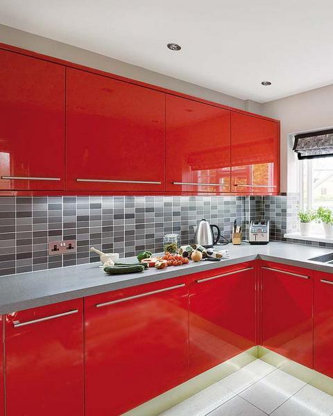 50 Plus 25 Contemporary Kitchen Design Ideas, Red Kitchen