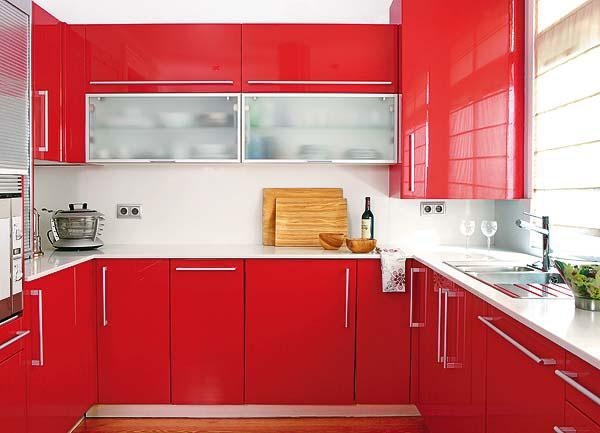 50 Plus 25 Contemporary Kitchen Design Ideas Red Kitchen Cabinets