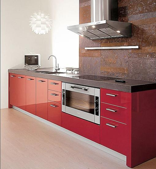 25 Modern Small Kitchen Design Ideas: 50 Plus 25 Contemporary Kitchen Design Ideas, Red Kitchen