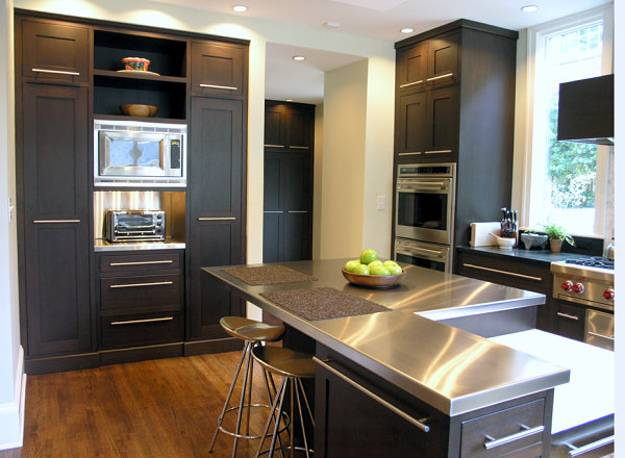 Espresso Kitchen Cabinets Farmhouse Dark Wood