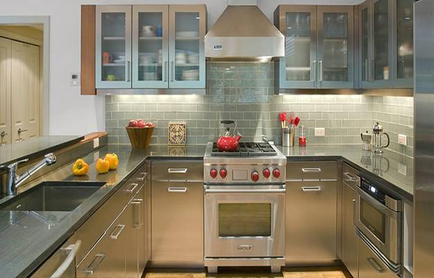 modern kitchens, stainless steel kitchen countertop ideas