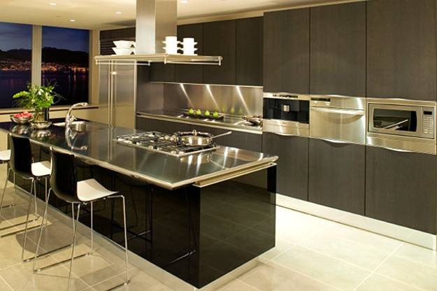100 Plus 25 Contemporary Kitchen Design Ideas, Stainless ... on Modern Kitchen Countertop Decor  id=32783