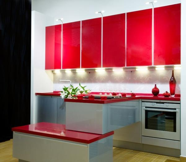 75 Plus 25 Contemporary Kitchen Design Ideas, Red Kitchen Cabinets ...