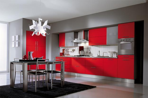Red Kitchen Cabinets Make A Striking, Unforgettable Statement. This Hot  Color Is Ideal For All Who Are Celebrating Originality.
