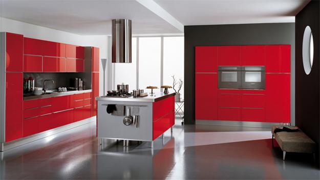 75 Plus 25 Contemporary Kitchen Design Ideas Red Kitchen Cabinets