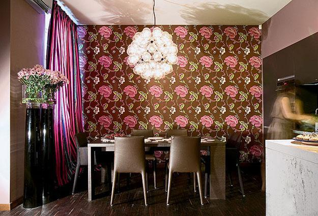 modern wallpaper patterns for dining room design