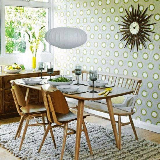 dining room wallpaper designs | Dining Room Design and Decorating with Modern Wallpaper