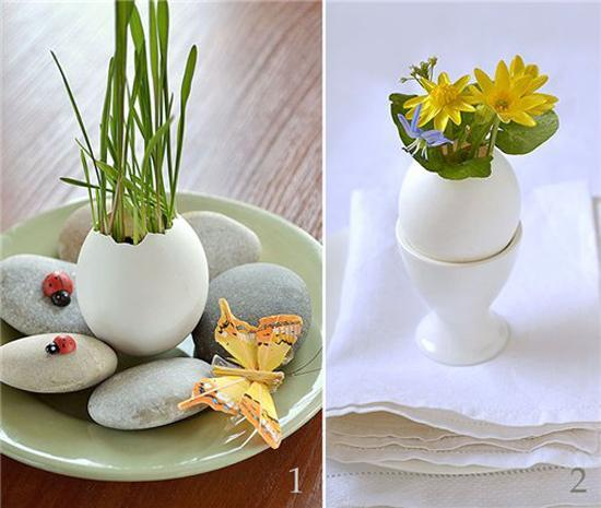 20 Ideas To Recycle Egg Shells And Create Floral Table