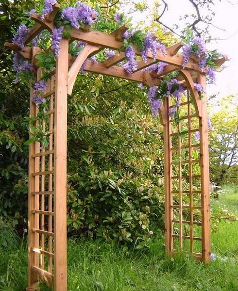 Romantic Garden Design: 15 Beautiful Wooden Arches Creating Romantic Garden Design