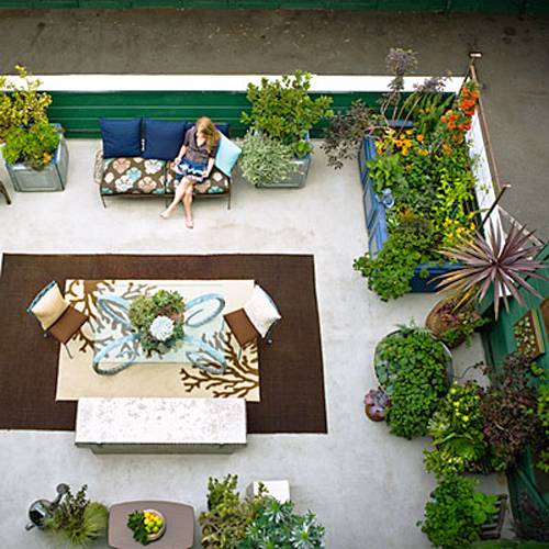 Beautiful Gorgeous Modern Garden Concept Idea With Bright: 15 Small Backyard Designs Efficiently Using Small Spaces