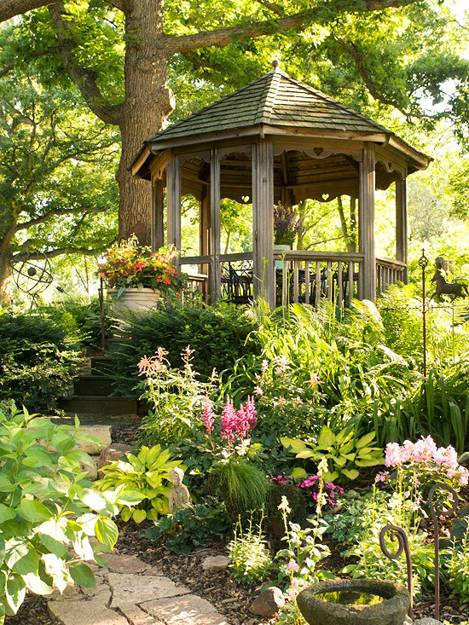 Beautiful Simple Garden Design Plans: 15 Beautiful Metal Or Wooden Gazebo Designs And Garden
