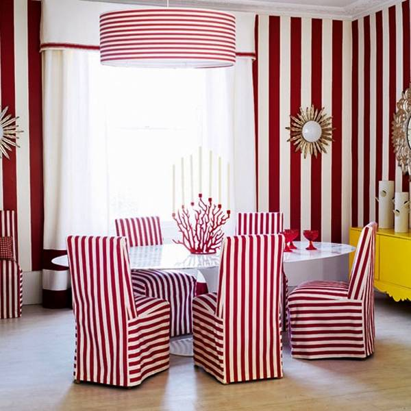 Decorating With Stripes For A Stylish Room: 15 Modern Ideas For Room Decorating With Horizontal Stripes