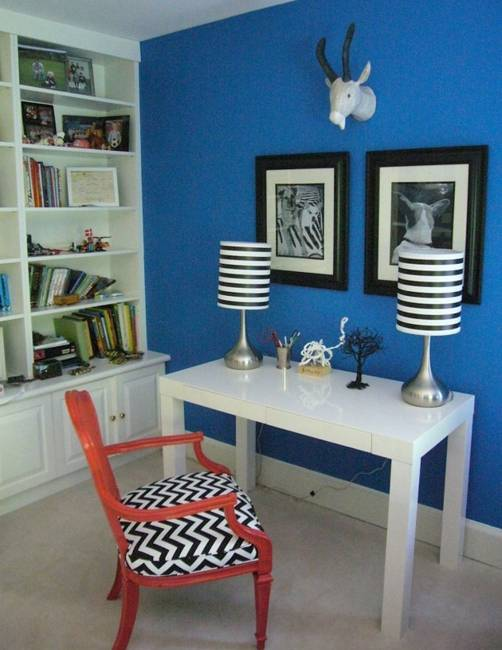 modern interior design and decorating with stripes, horizontal stripes