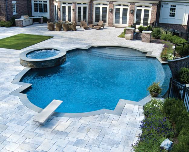 22 outdoor living spaces with jacuzzi tubs and beautiful for 3d pool design online free