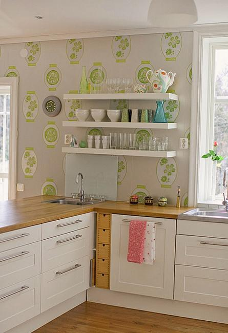 Modern Wallpaper For Small Kitchens Beautiful Kitchen Design And