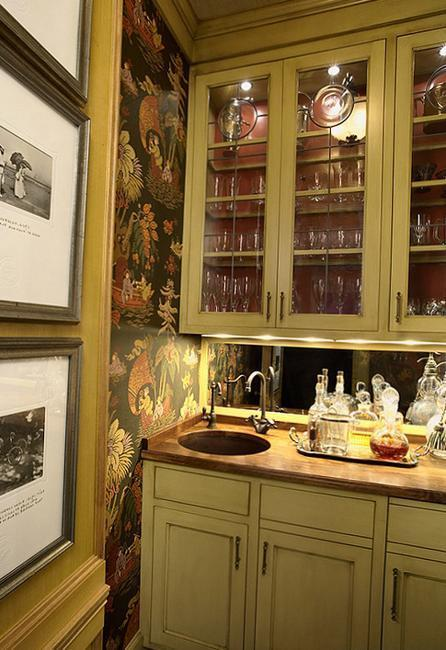 Modern wallpaper for small kitchens beautiful kitchen - Small kitchen decorating ideas ...