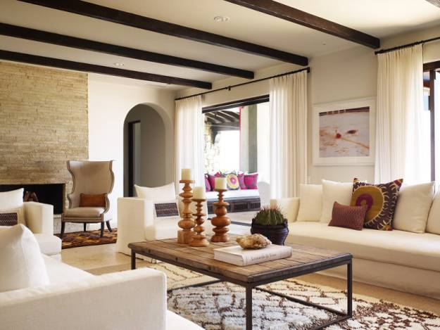 Beautiful Interior Decorating Ideas Blending Mexican Style And Oceanfront Villa Chic