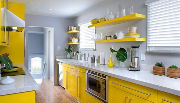 Yellow Kitchen Colors, 22 Bright Modern Kitchen Design and ...