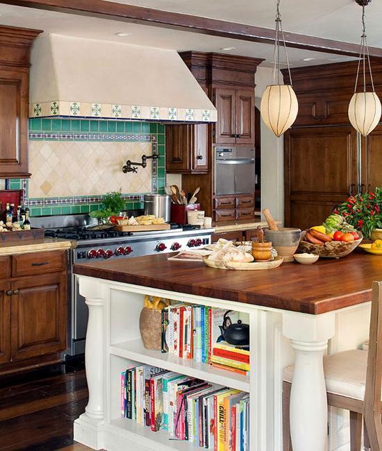 Modern Kitchen Designs 2014: Warm Interior Design And Vintage Decor With Wood Furniture