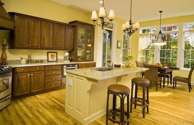 25 Beautiful Kitchen Decor Ideas Bringing Modern Wallpaper Patterns ...