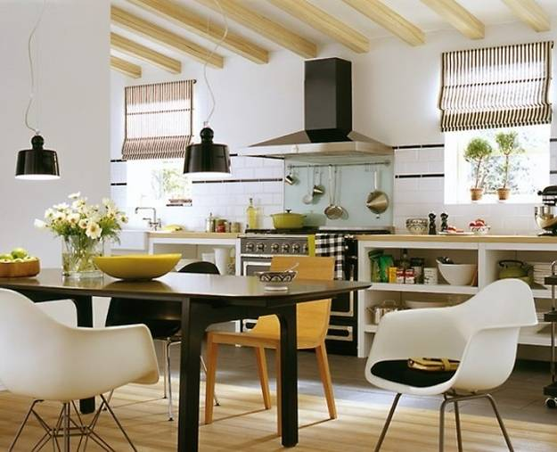 Modern Kitchen Design With Dining Area