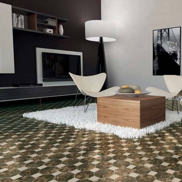 Most Creative Flooring Ideas For Your Modern Home: Modern Ceramic Tiles Bringing Unique Decoration Patterns