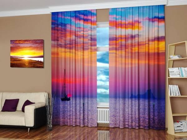 Digital Printing And Colorful Photo Curtains Bringing