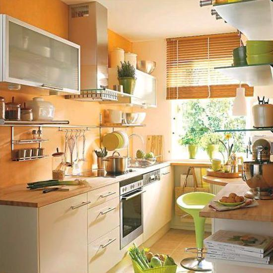 20 Ways To Decorate With Orange And Yellow: Orange Kitchen Colors, 20 Modern Kitchen Design And
