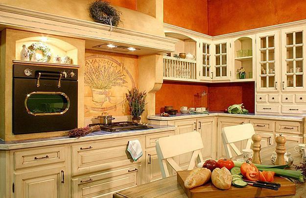 Country Kitchen Decor Orange Paint For Walls