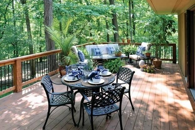 Outdoor Home Decor Ideas For Stone Terrace