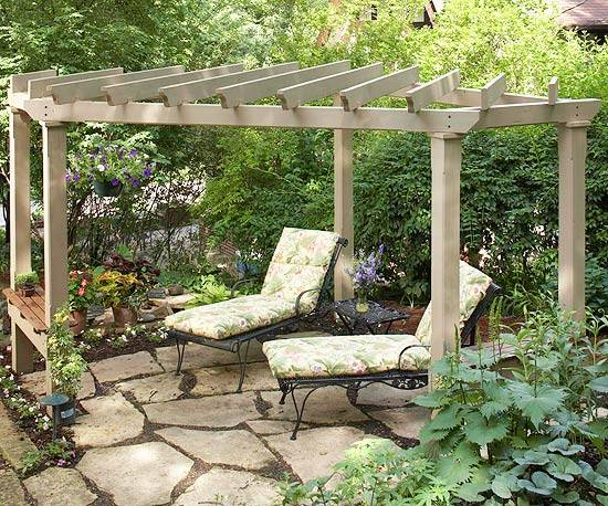 22 Beautiful Garden Design Ideas Wooden Pergolas And Gazebos Improving Backyard Designs