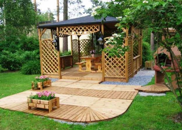 22 Beautiful Garden Design Ideas, Wooden Pergolas and ...