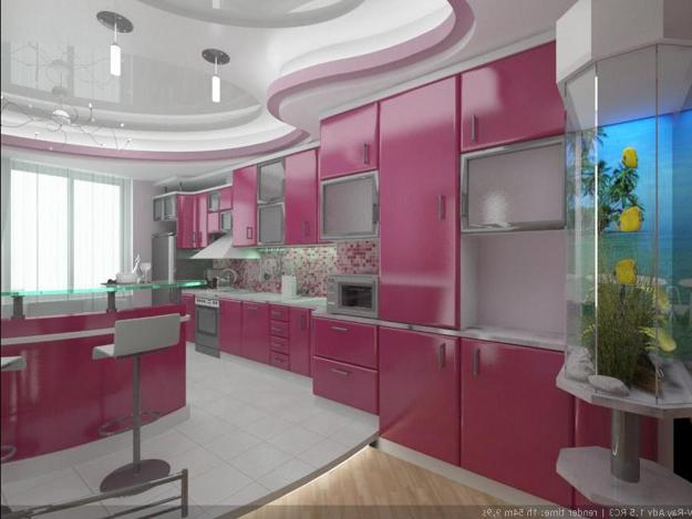 Purple And Pink Kitchen Colors Adding Retro Vibe To Modern