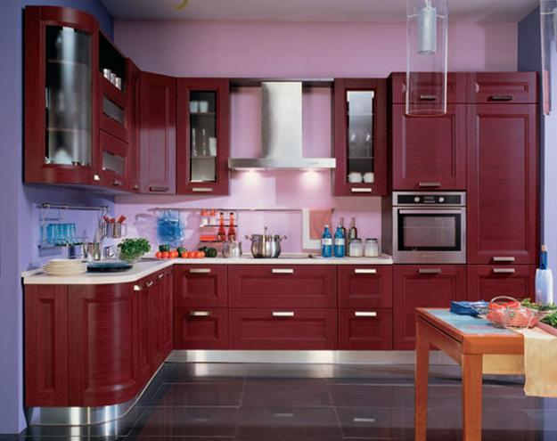 Purple and Pink Kitchen Colors Adding Retro Vibe to Modern Kitchen ...