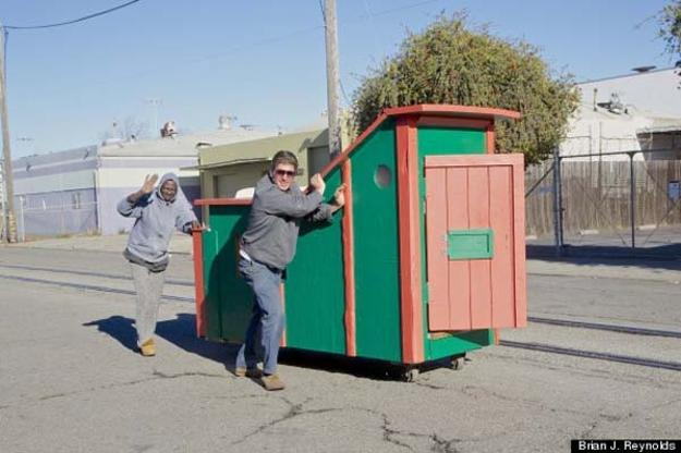 handmade small homes for homeless recycling junk