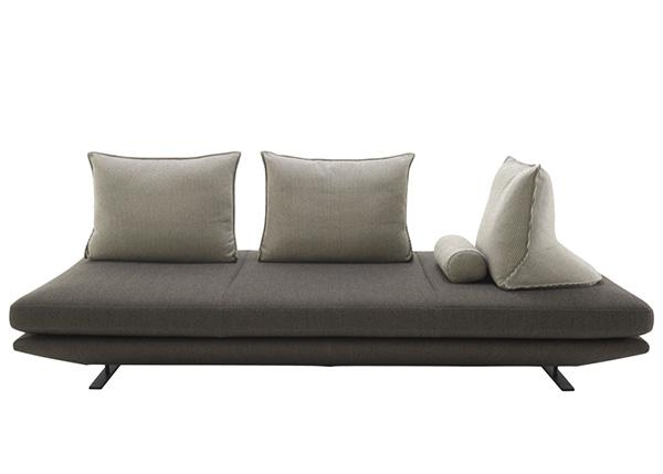 modern sofa with portable backrest cushions
